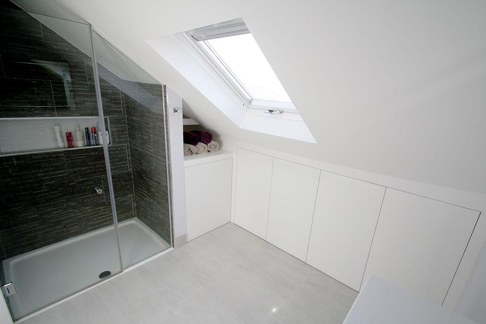 Contemporary Loft Shower Room